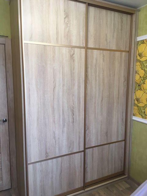 Шкаф-купе светлый гардероб омск под заказ