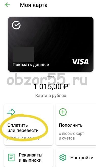 Оплатить и перевести
