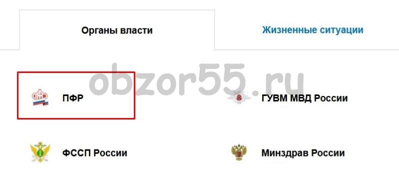 ПФР ГосУслуги ведомство