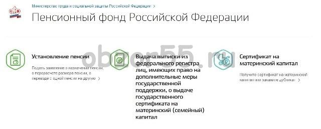 Услуги ПФР