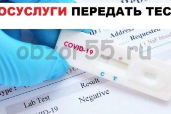 передача теста ковид19 через госуслуги