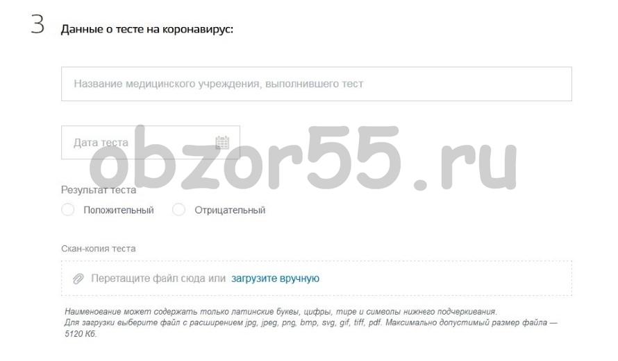 Как передать тест на короновирус пребывающим в Россию через ГосУслуги