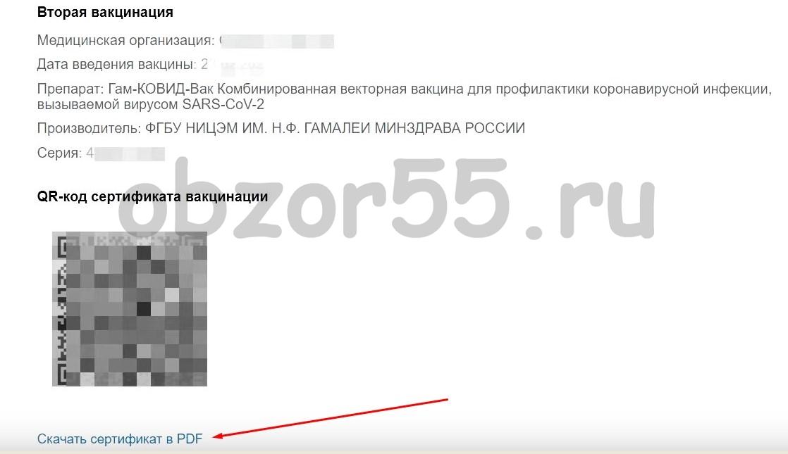 электронный сертификат о вакцинации (COVID19)