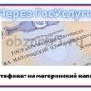 сертификат на материнский капитал через ГосУслуги